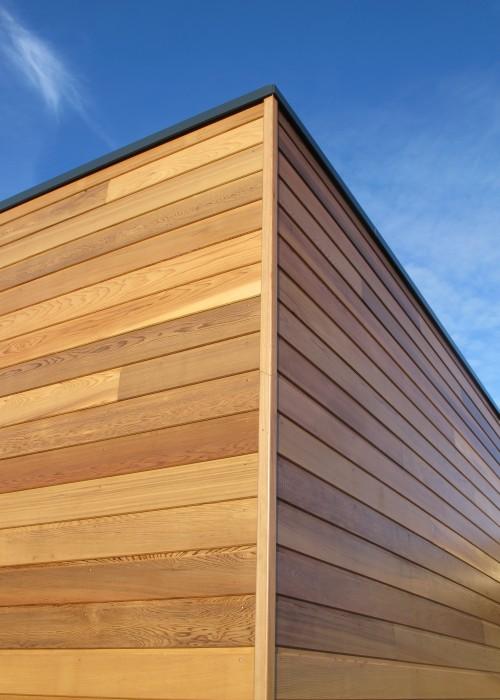 Maison à ossature bois.